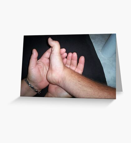 The hands of love Greeting Card