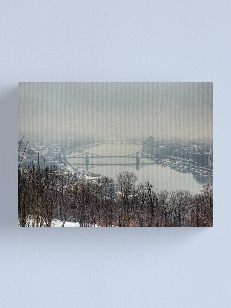 Alternate view of Budapest in the snowy fog Canvas Print
