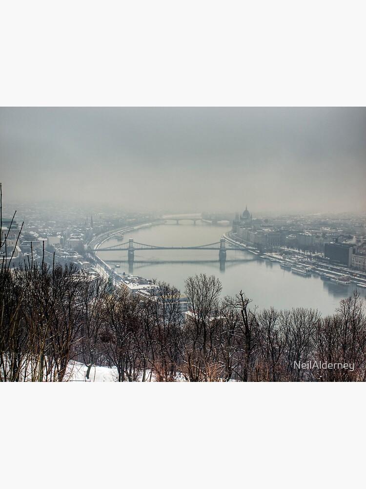 Budapest in the snowy fog by NeilAlderney
