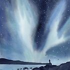 Northern Lights Nature Landscape Painting by Sandra Connelly