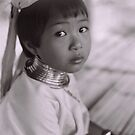 Thai Long Neck Tribe Young Girl by eyesoftheeast