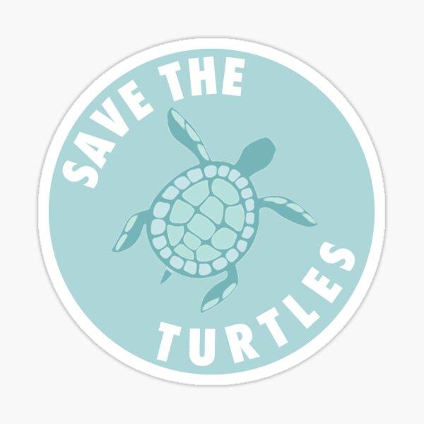 Save the Turtles - Aqua  Sticker