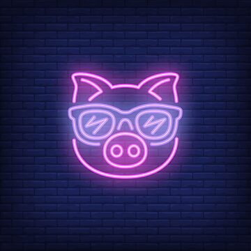 Cute Pink Pig Cartoon Chinese Horoscope Sign 2019 by peter2art