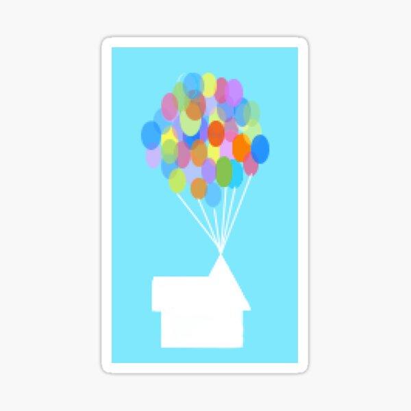 Minimalist Balloon House Sticker