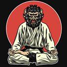 Verärgerter Affen-Dämon - BJJ Jiu-Jitsu und MMA T-Shirt von pacomerch