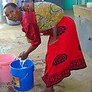 Tanzanian Washer-Woman by Adrian Paul