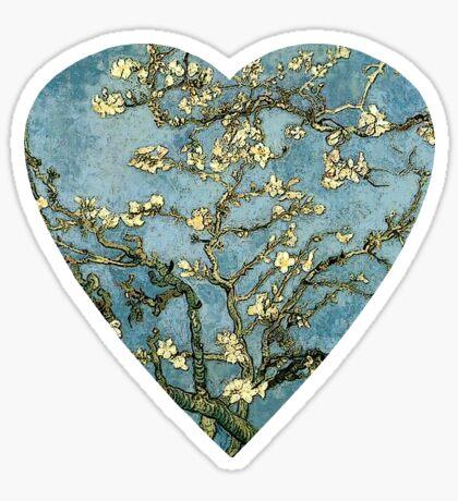 Blossoming Almond Tree Heart Sticker