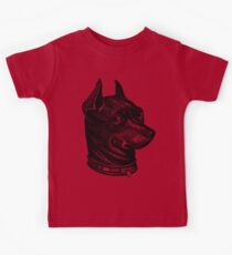 Dog Head - black Kids Tee