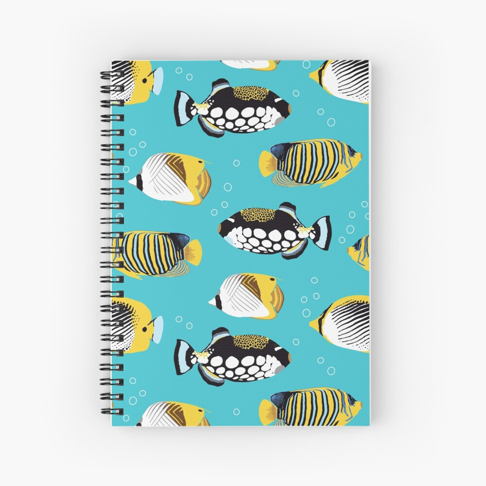 Tropical Fish in water (with stickers) Spiral Notebook