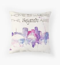 Home is where the beignets are Throw Pillow