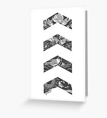 Liam's Chevrons Greeting Card