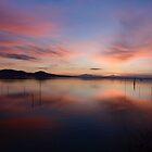 Sunset over Lago Trasimeno, Umbria, Italy by Andrew Jones