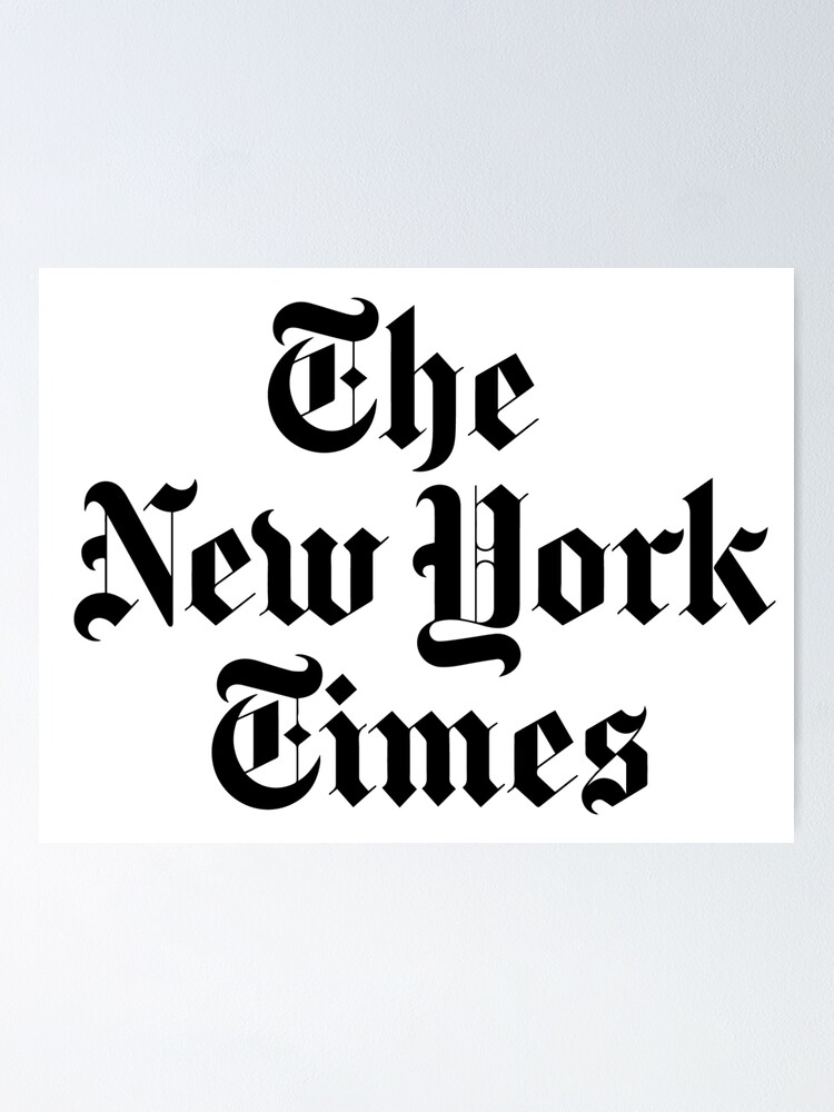 The New York Times Logo Poster By Ktthegreat Redbubble