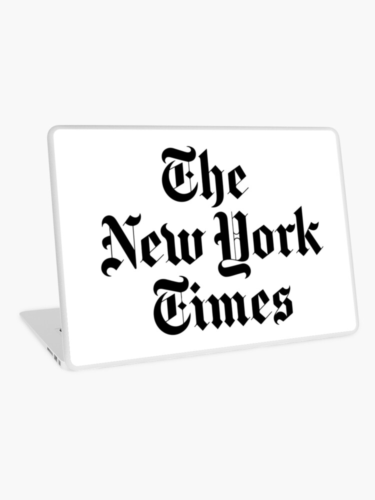 The New York Times Logo Laptop Skin By Ktthegreat Redbubble