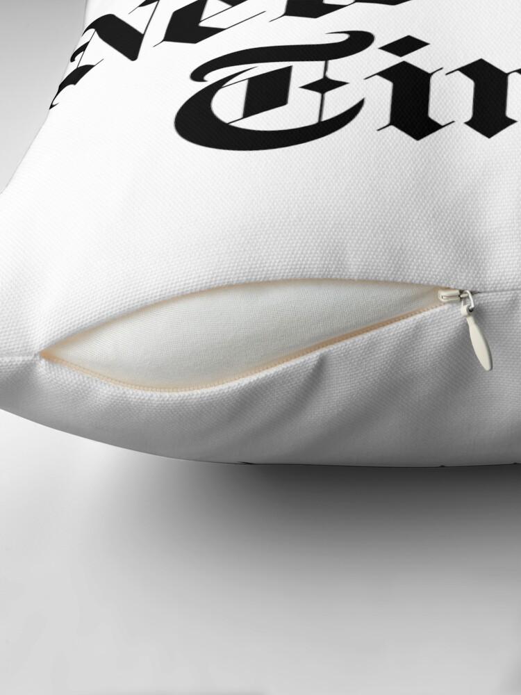 Alternate view of The New York Times Logo  Throw Pillow