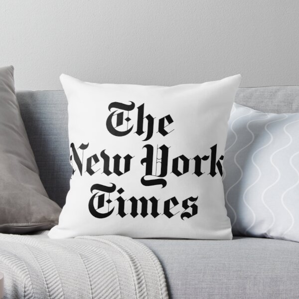The New York Times Logo  Throw Pillow