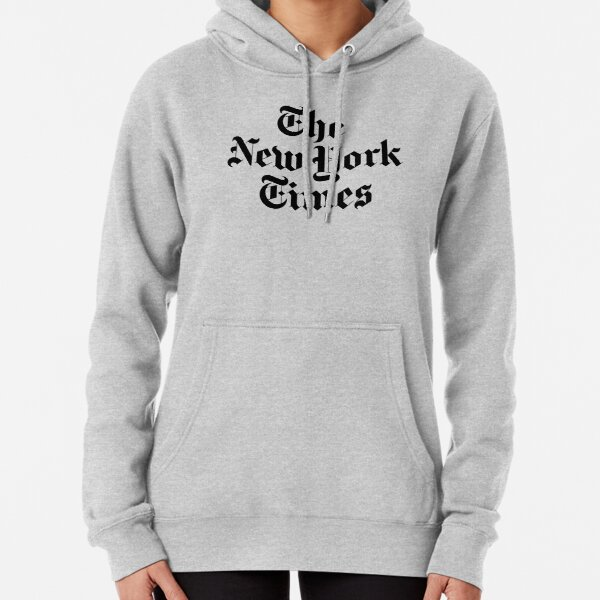 The New York Times Logo  Pullover Hoodie
