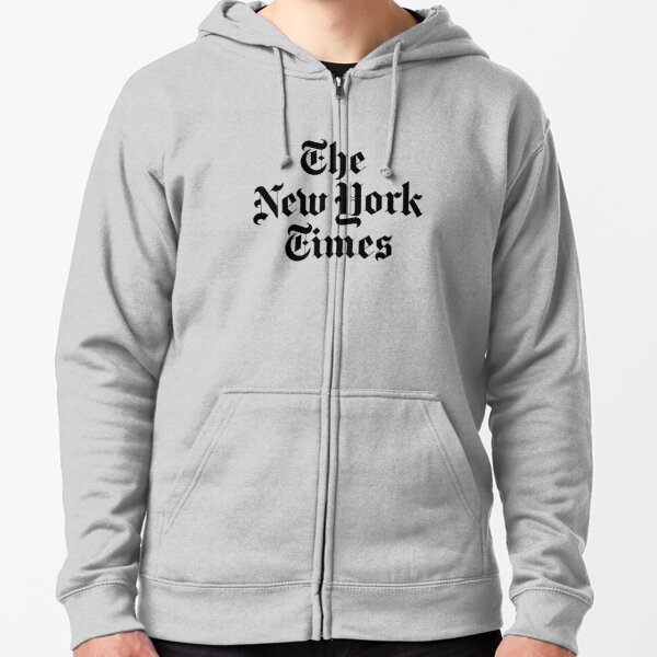 The New York Times Logo  Zipped Hoodie
