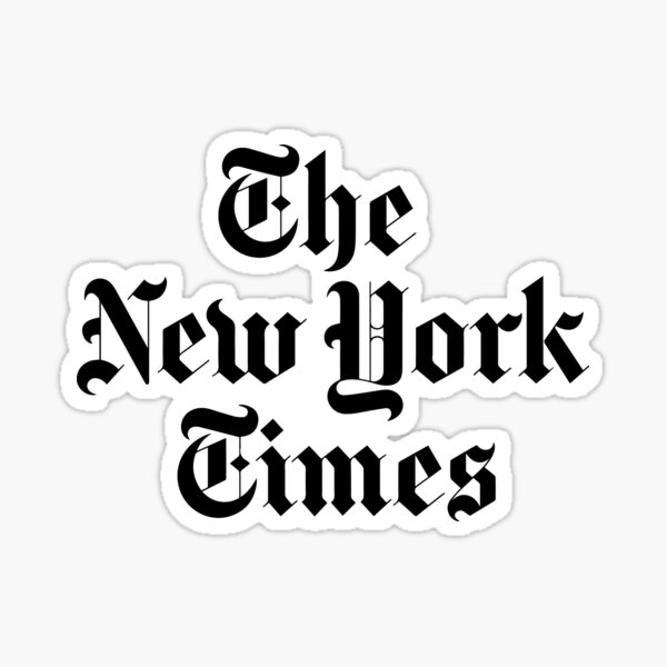 The New York Times Logo  Sticker