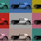 French classic car pop art by aapshop