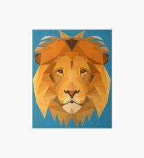 The many angled lion Art Board Print