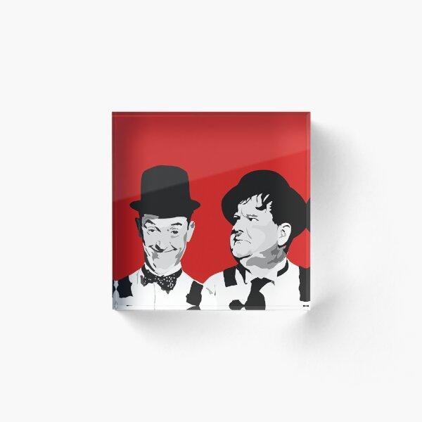 Laurel & Hardy  best friends Acrylic Block