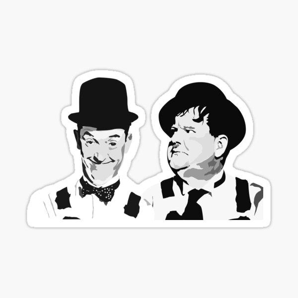 Laurel & Hardy  best friends Sticker