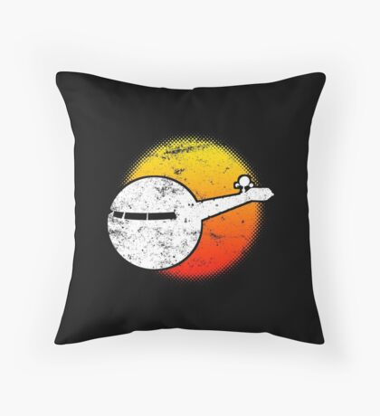 USS A One Space Discovery Odyssey Approach 2001 Dark Throw Pillow