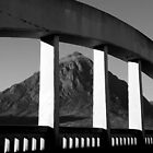 The Buachaille and the Bridge B&W by beavo