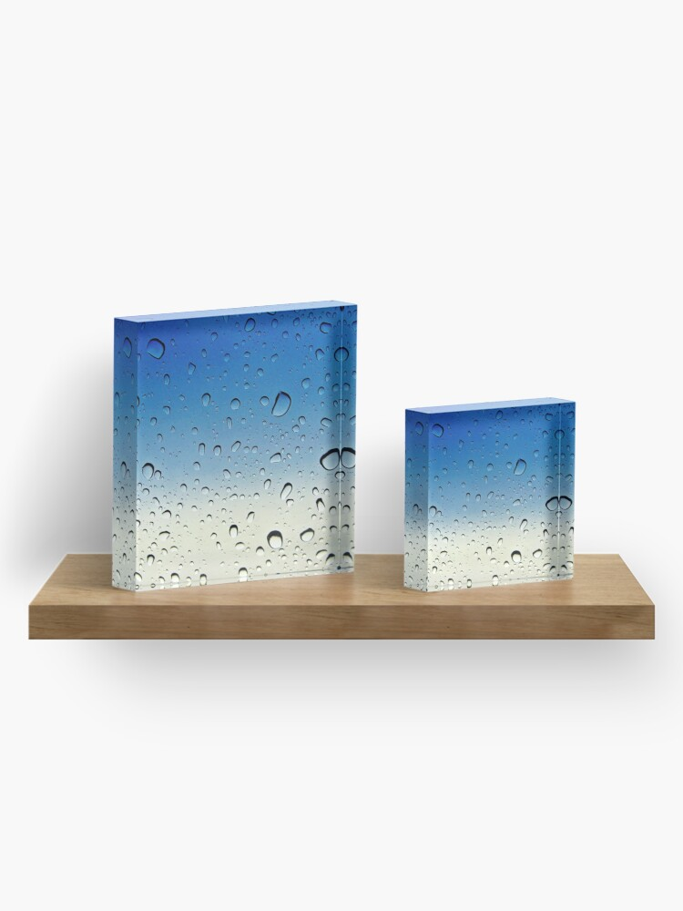 Alternate view of Raindrops keep falling on my head... Acrylic Block
