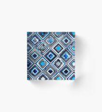 Test Pattern (Blue) Acrylic Block
