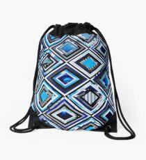 Test Pattern (Blue) Drawstring Bag