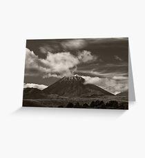 Mt. Ngauruhoe - New Zealand ... aka Mt. Doom - Middle Earth Greeting Card