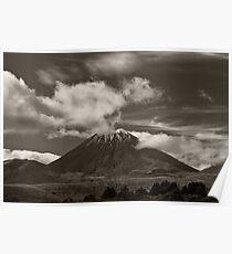 Mt. Ngauruhoe - New Zealand ... aka Mt. Doom - Middle Earth Poster