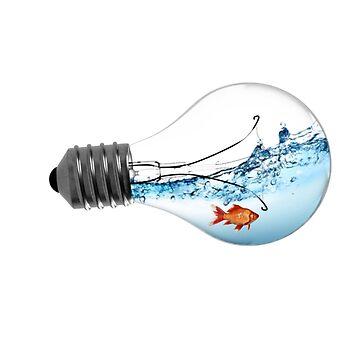 Fish in lightbulb by vodanet