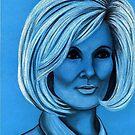 Dusty Springfield celebrity portrait by Margaret Sanderson