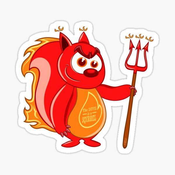 Der Teufel ist ein Eichhörnchen Sticker