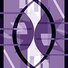 Purple Cosmic Collision Abstract by Jenny Meehan  by Jenny Meehan