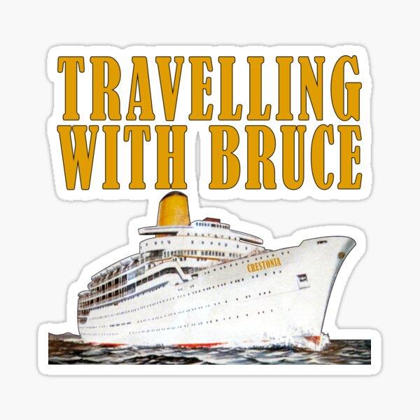 Travelling with Bruce Crestonia Logo Sticker
