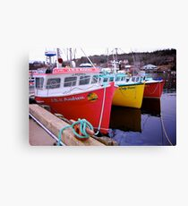 Fishing Harbour ~ Nova Scotia Canada Canvas Print