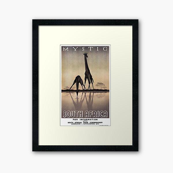 Mystic South Africa Vintage Travel Poster Framed Art Print