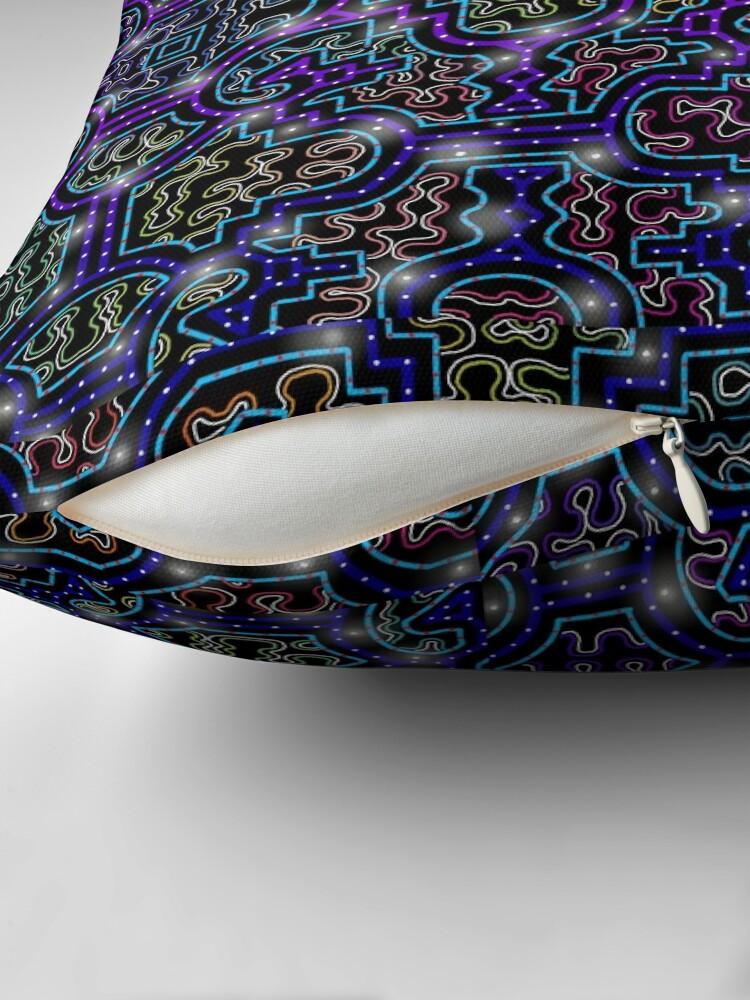 Alternate view of Shipibo Pattern/Ayahuasca Visions Floor Pillow
