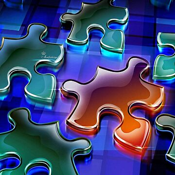 Colorful puzzle by comtessek