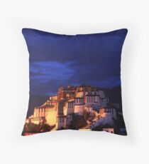 Evening over the Potala Palace in Lhasa Throw Pillow