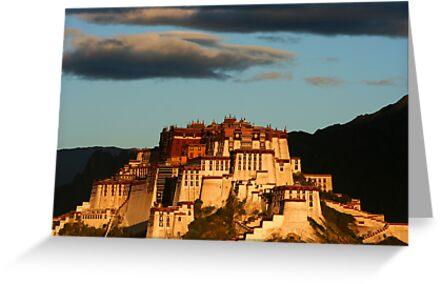 Potala Palace in Lhasa at dawn by Malcolm Roberts