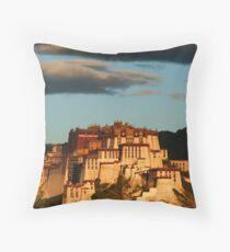 Potala Palace in Lhasa at dawn Throw Pillow