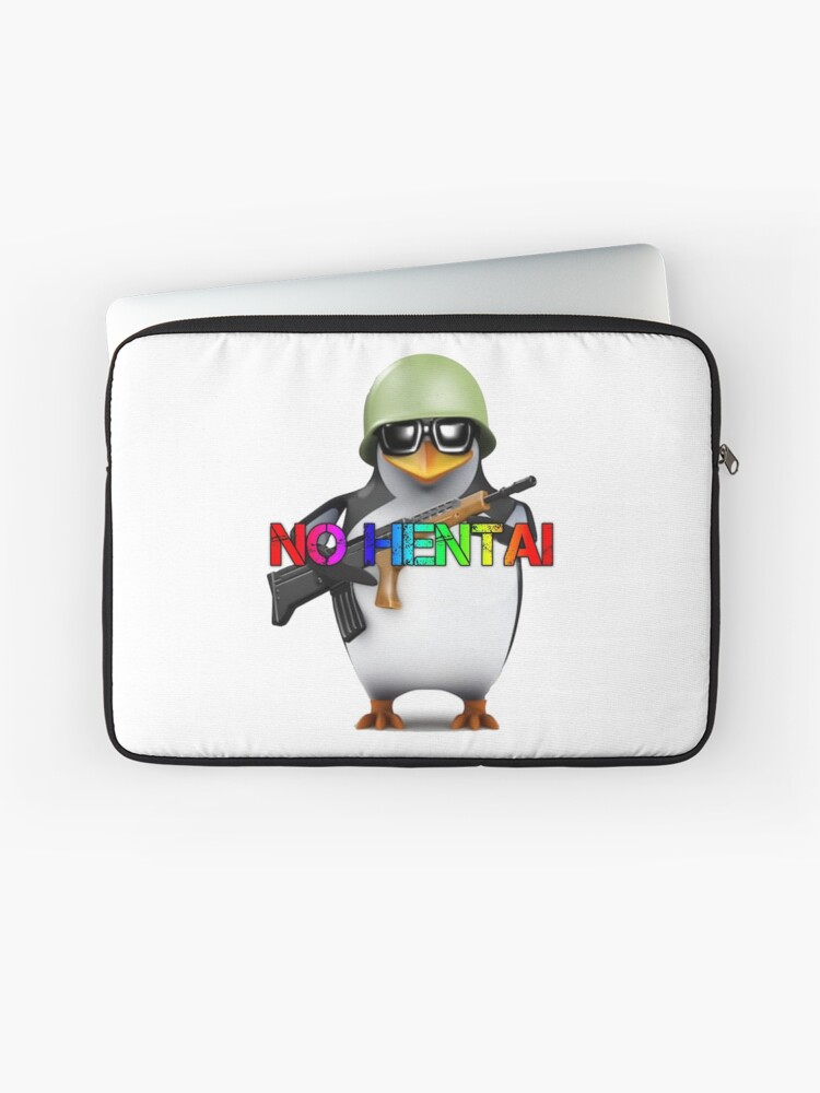 575d9c4de78f NO HENTAI ALLOWED PENGUIN SOLDIER | Laptop Sleeve