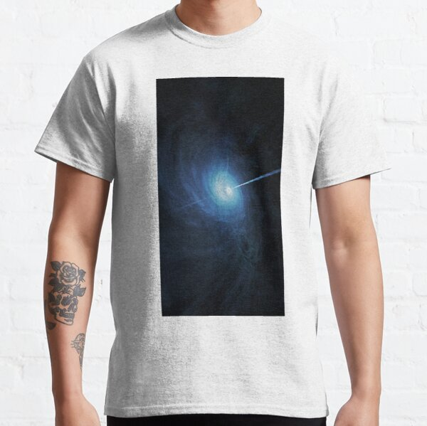 abstract, astronomy, energy, flame, space, motion, science, blur, fantasy, moon, futuristic, vertical, large, smoke - physical structure, exploding, explosions in the sky, textured Classic T-Shirt