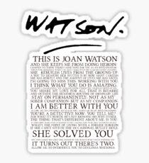 Joan Watson Sticker