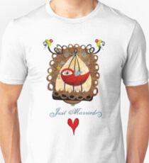 Just married key of universal declaration bird rights tee shirt Unisex T-Shirt